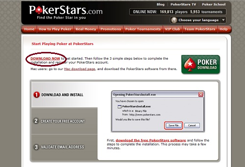 download pokerstars real money